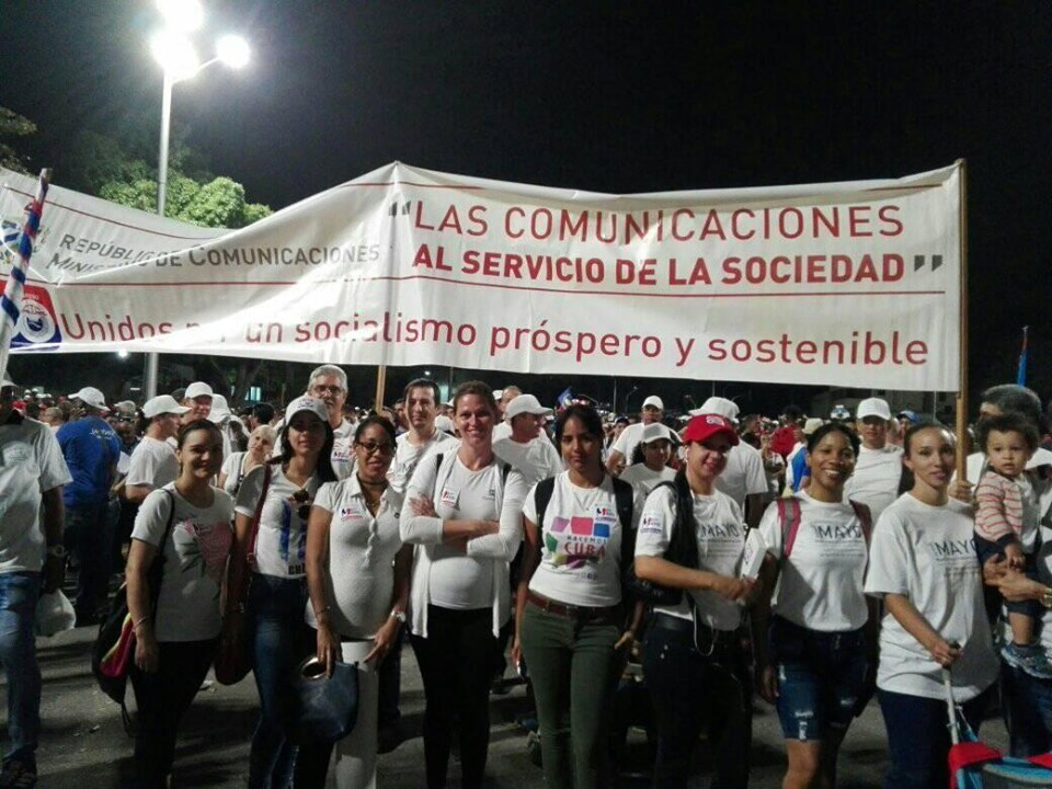 Communication workers united and victorious on May 1st