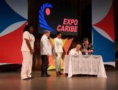 Cancelación de sello postal en Expocaribe 2019