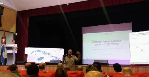 Reunión preparatoria Ejercicio Meteoro en el Ministerio de Comunicaciones