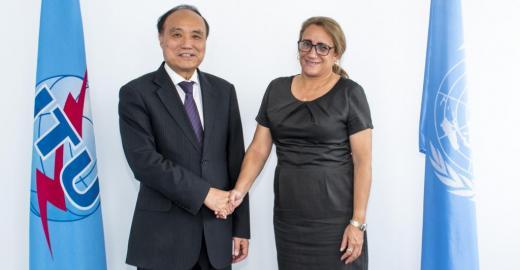 un encuentro con el secretario general y el vicesecretario general de la UIT