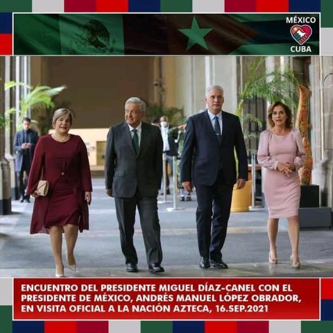 Canciller Ebrard: Es motivo de felicidad recibir a Díaz-Canel